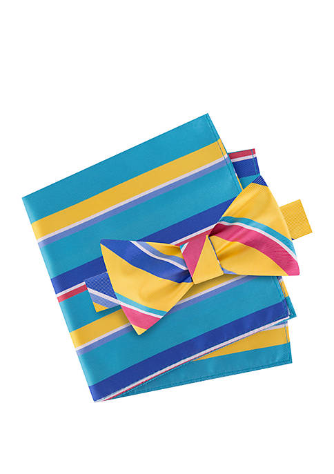 IZOD Greenville Bow Tie and Pocket Square Set