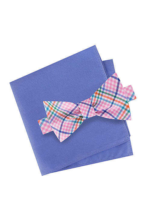IZOD Beekm Bow Tie and Pocket Square Set