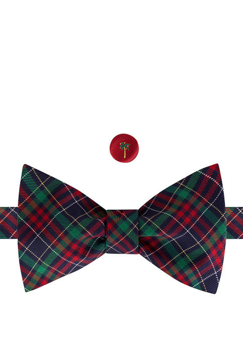 IZOD Tartan Palm To Be Tied Bow Tie
