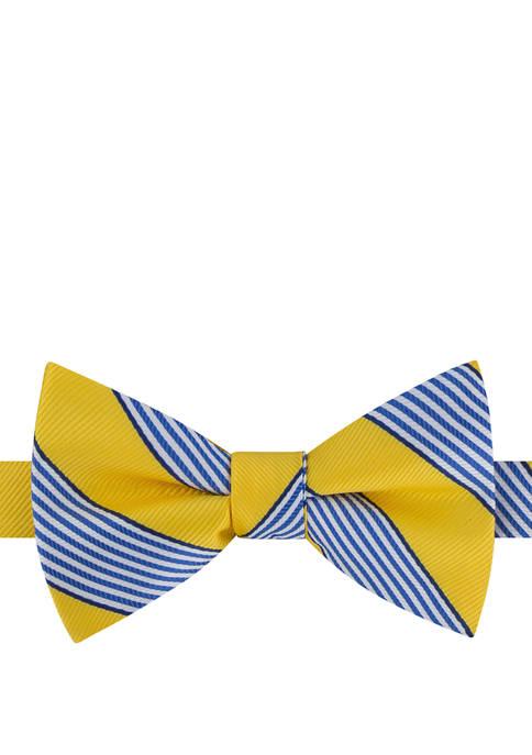 IZOD Stripe Pre Tied Bow Tie
