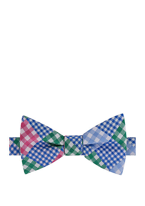 IZOD Greer Patchwork Bow Tie