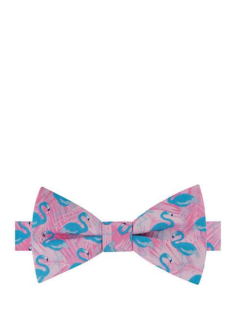 IZOD Tropical Flamingo Bow Tie
