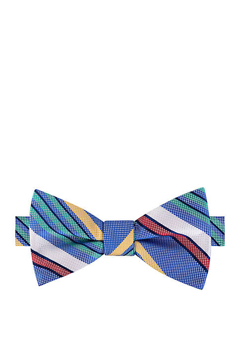 IZOD Currituck Stripe Bow Tie and Pocket Square