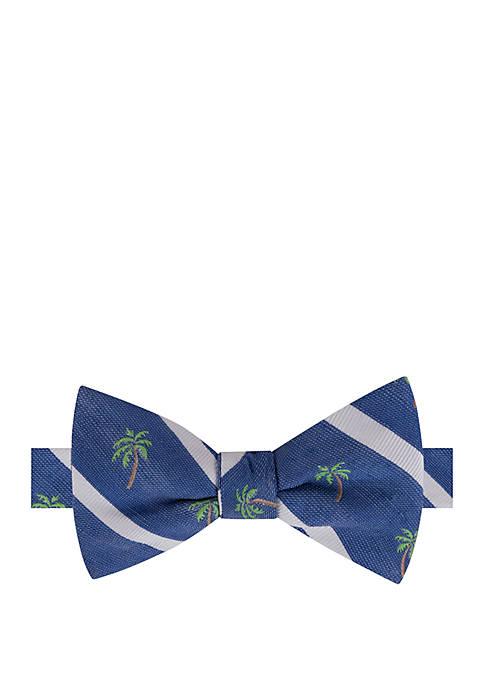 IZOD Palm Tree Stripe Bow Tie