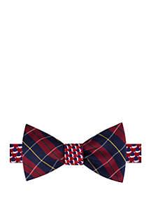 Hot Plaid Reversible Bow Tie