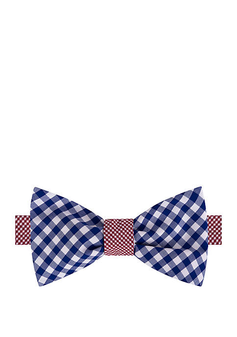 IZOD Gingham Contrast Tail Reversible Bow Tie
