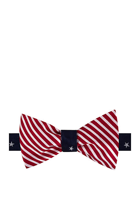IZOD Star and Stripe Reversible Bow Tie