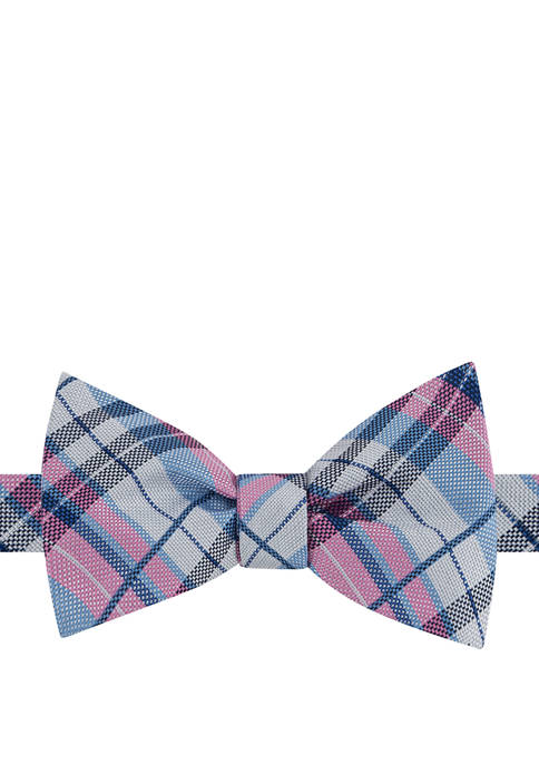 IZOD Fulton Plaid Bow Tie