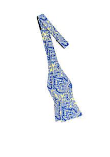 Pumice Paisley Bow Tie