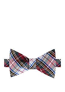 White Tartan Bow Tie