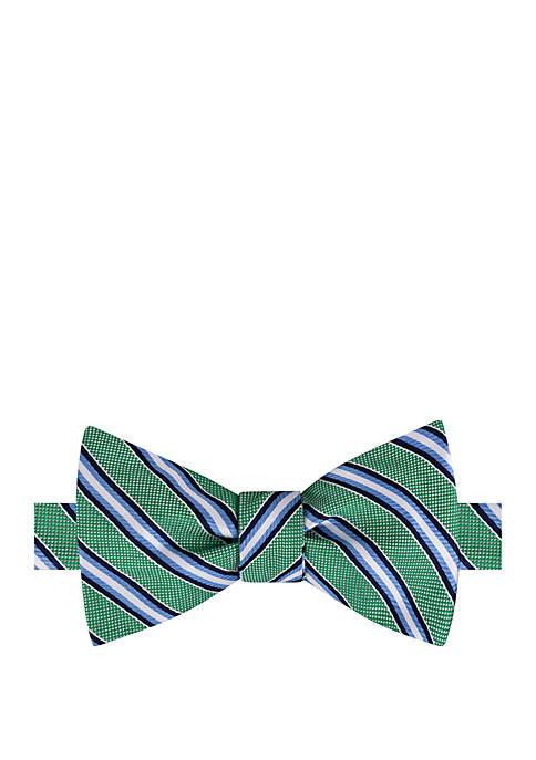 IZOD Stanton Stripe Bow Tie and Pocket Square