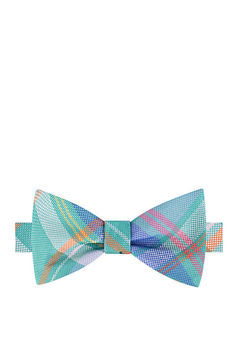 IZOD Perry Plaid Bow Tie