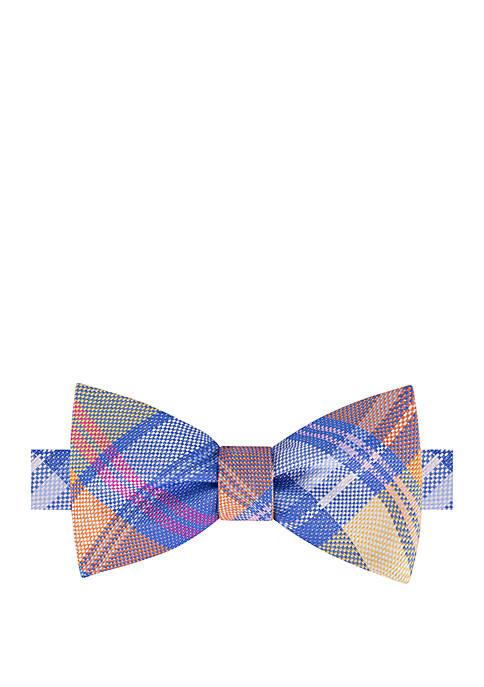 IZOD Perry Plaid Bow Tie
