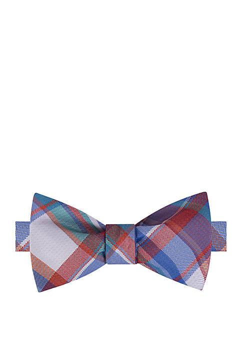 IZOD Swansboro Plaid Bow Tie