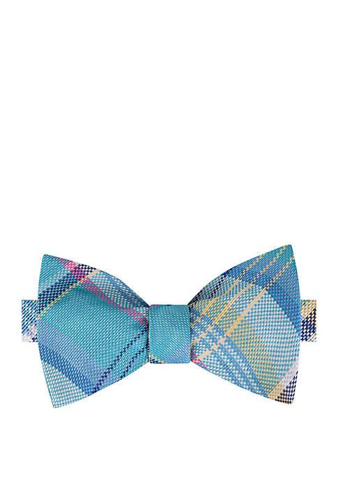 IZOD Bogue Plaid Bow Tie