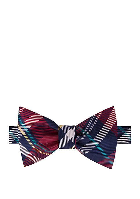IZOD Harvest Plaid Bow Tie