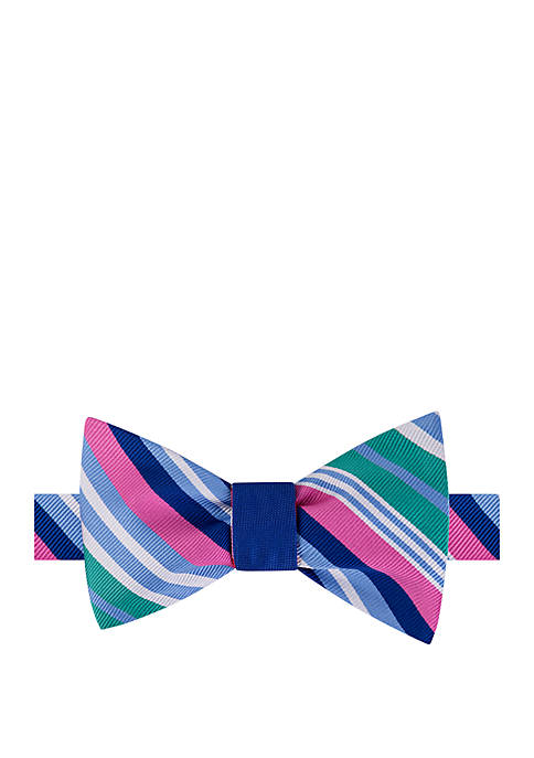 Conway Stripe Reversible Bow Tie