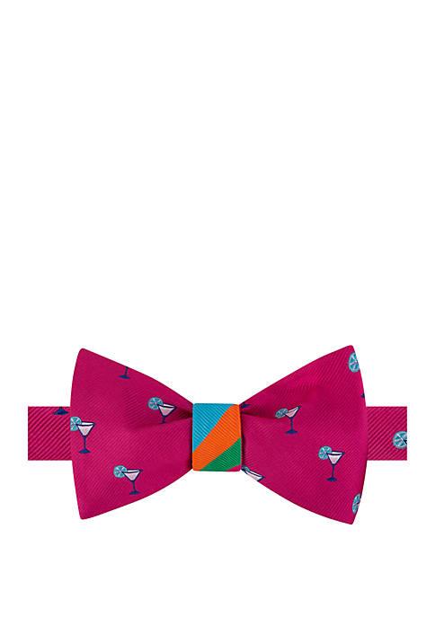 Drink Stripe Reversible Bow Tie