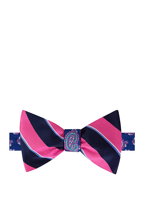 IZOD Sideline Stripe and Pine Reversible Bow Tie