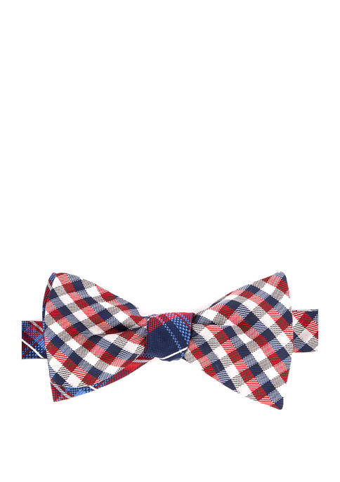 IZOD Gingham Plaid Reversible To Be Tied Bow