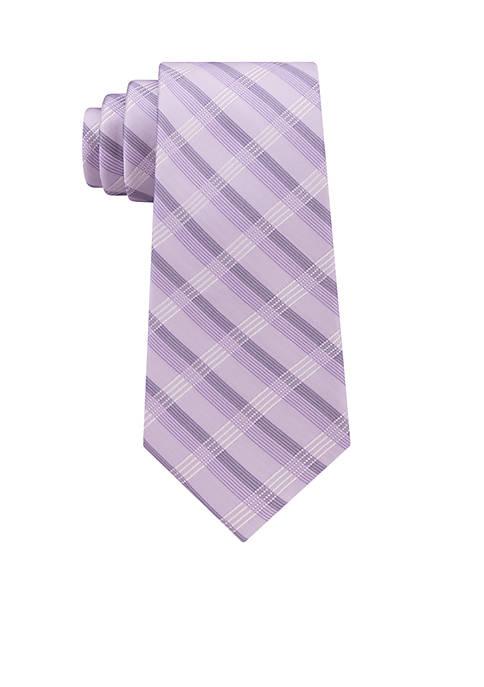 Calvin Klein Creme Plaid 2 Tie