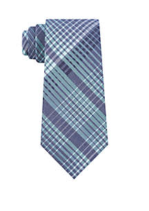 Bold Degrade Plaid Neck Tie