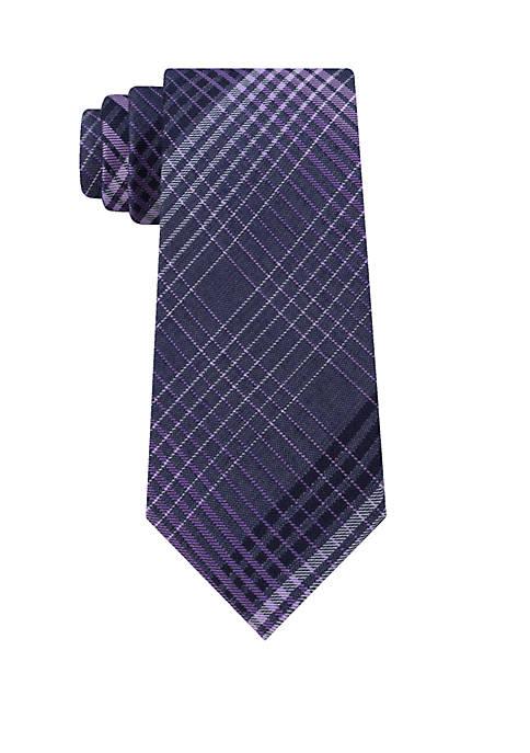 Calvin Klein Bold Degrade Plaid Neck Tie