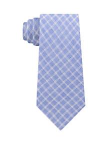 Calvin Klein Linen Pane Tie