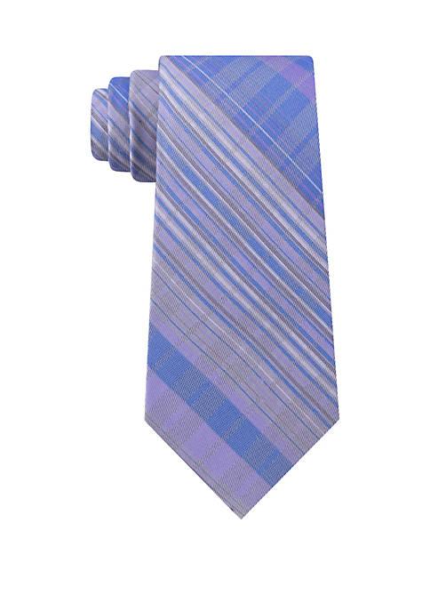 Calvin Klein Carbon Ombre Plaid Tie
