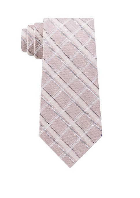Calvin Klein Naturals Plaid Tie