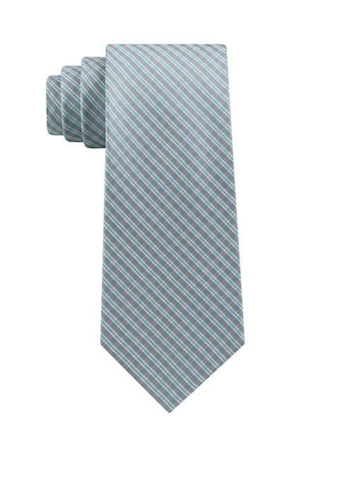 Calvin Klein Bright Shimmer Check Necktie