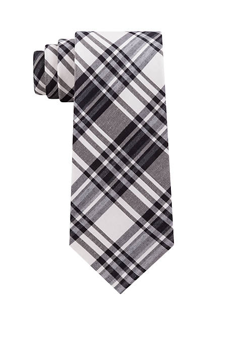 Calvin Klein Large Open Plaid Tie