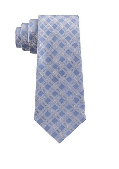 Calvin Klein Space Dye Grid Necktie