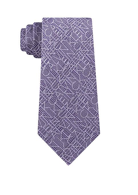 Calvin Klein Tonal Logo Tie