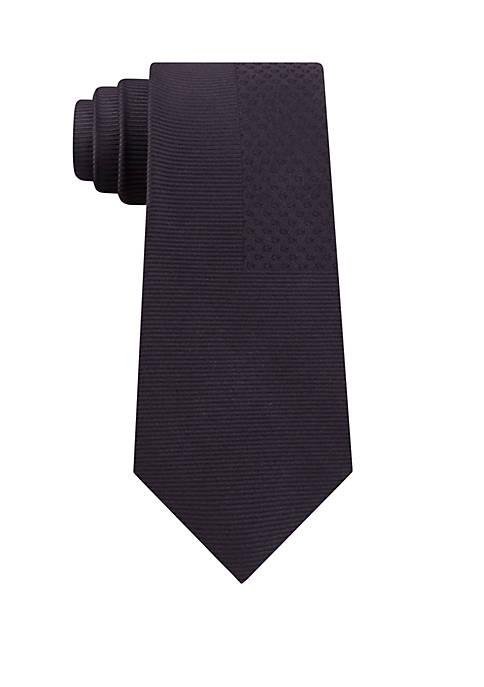 Calvin Klein Tossed Logo Geo Solid Necktie