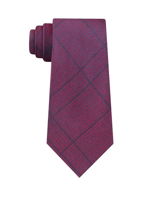 Calvin Klein Woven Knit Plaid Tie