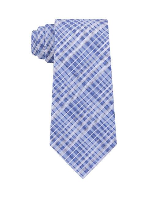 Calvin Klein Contrast Plaid Print Tie