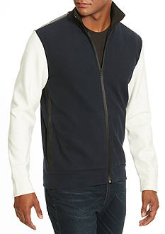 Kenneth Cole Felted Zip Sweater Jacket