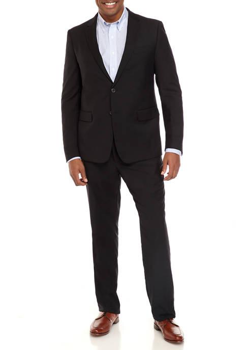 Black Serge Portly Suit