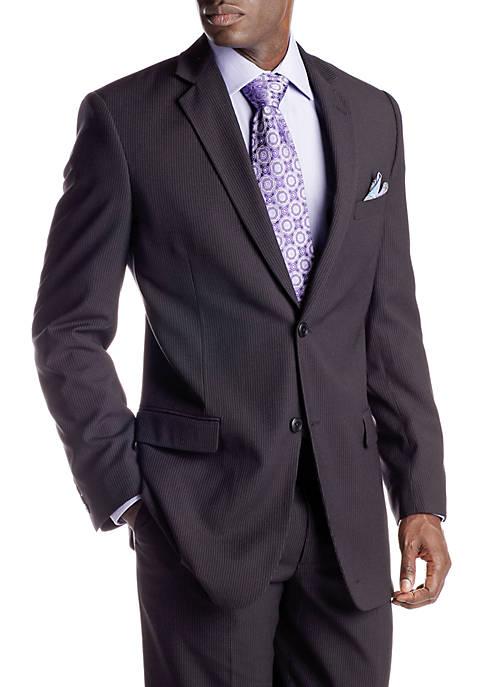 Adolfo Portly Black Stripe Suit Separate Coat