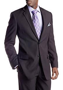 Portly Black Stripe Suit Separate Coat