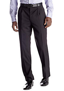 Portly Black Stripe Suit Separate Pants