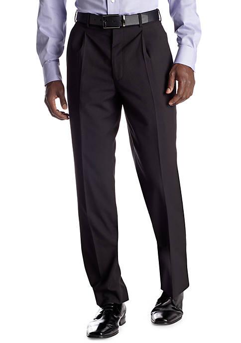 Classic Fit Black Stripe Suit Separate Pants