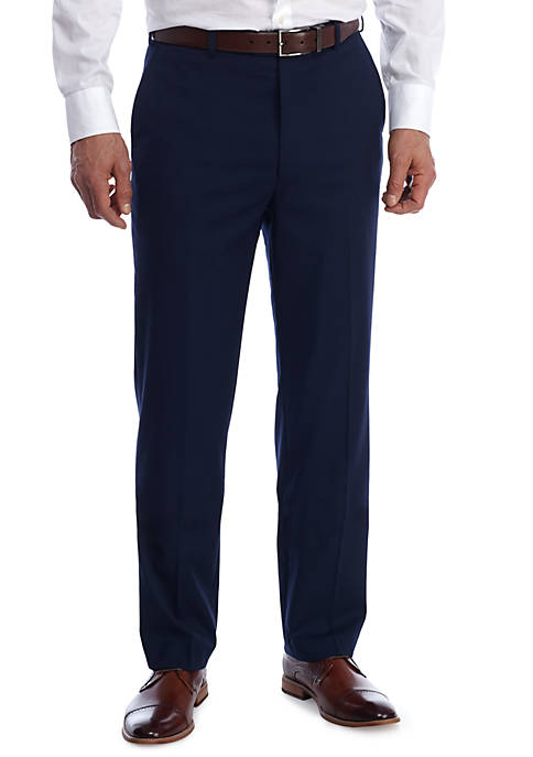 Adolfo Solid Blue Dress Pants