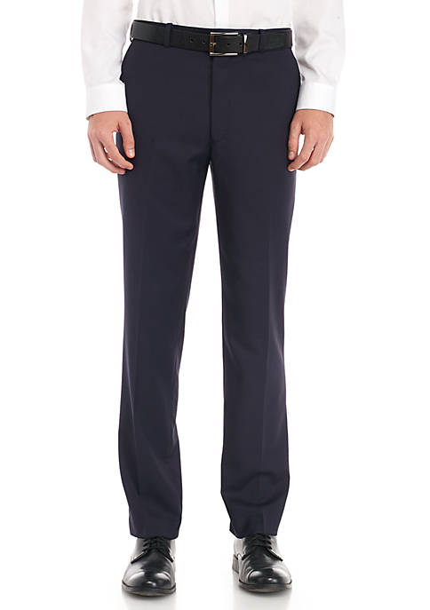 Adolfo Check Flat Front Pant Tech Modern Fit