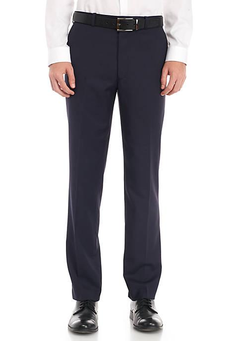 Check Flat Front Pant Tech Modern Fit Suit Pants