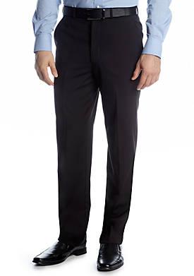 Classic Fit Black Solid Suit Separate Pants