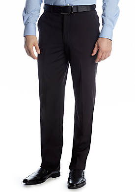 Portly Solid Suit Separate Pants