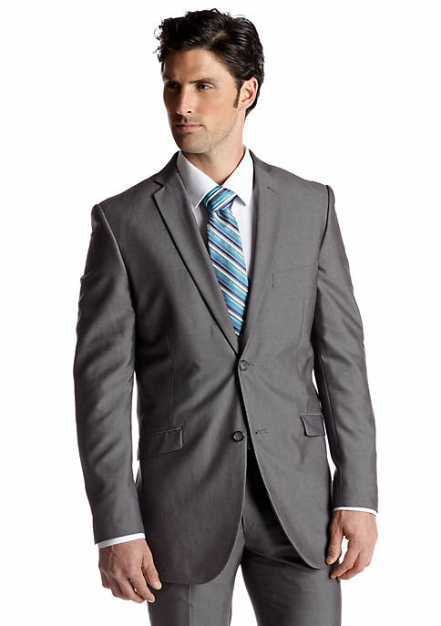 Adolfo Slim Fit Silver Suit Separate Coat