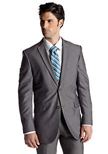Slim Fit Silver Suit Separate Coat